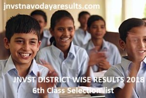 jnvst District wise results 2018